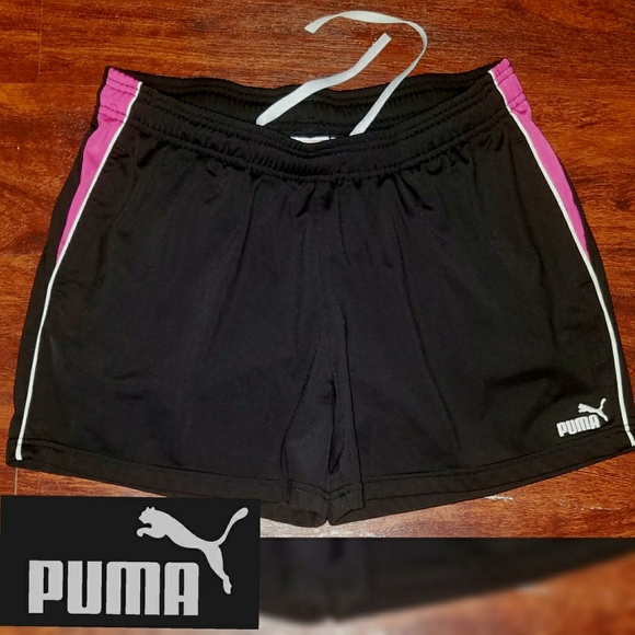 ea54a3572a3b Womens Puma Athletic Running Shorts Black Pink XL.  M 5b6a8003de6f62056bc4dc1f